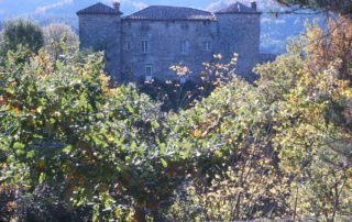 Jaujac : château du Bruget