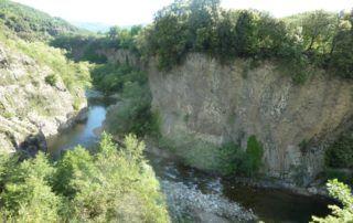 Jaujac : Coulée Basaltique