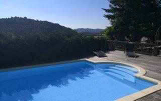Chambre d'hôtes Le Mellerey - Vue piscine