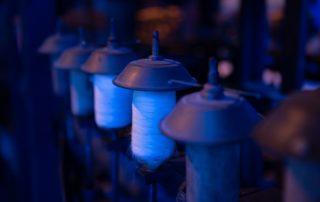 Chirols - Écomusée du moulinage - Bobines de fil