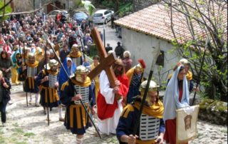 Burzet - Calvary and the procession