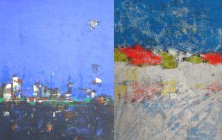 André Charles Pazdzerski - Formats 70x100 cm , gouache sur papier de riz