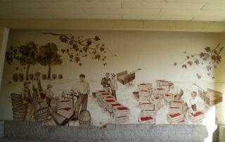 Fresque marché aux cerises