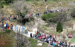 Burzet - Calvaire - La procession 3