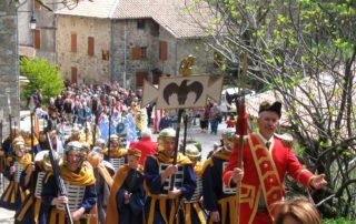 Burzet - Calvaire - La procession 1
