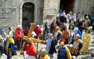 Burzet - Calvaire - La procession 2