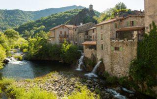Burzet - La Bourges dans le village