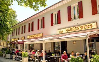 Thueyts - Hotel restaurant les marronniers  facade