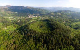 Jaujac - Volcan de la Coupe de Jaujac vu en ULM