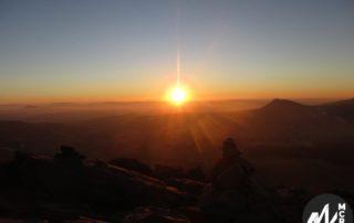 Burzet - Randonnée coucher de soleil sur le partage des eaux