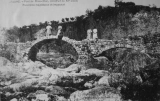 Pont romain, photo carte postale