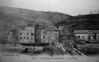 Jaujac - Château de Castrevieille en 1904 ©H.Gilbert edit ©Mairiedejaujac