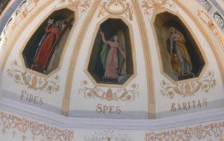 Jaujac - Eglise St Bonnet, fresques intérieures ©OTASV