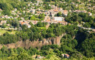 Thueyts - Le village vu de Bouchard ©S.BUGNON