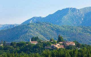 Le village vu de la route de St Cirgues