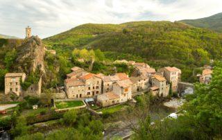 Burzet village