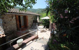 Terrasse Gite Les Hortensias