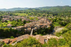 Le village vu du Chastelas